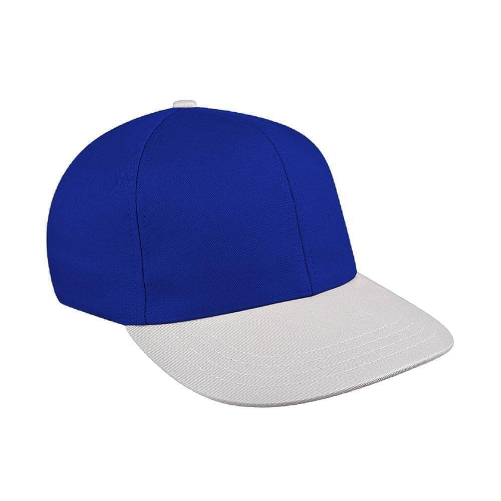 Royal Blue-White Canvas Snapback Prostyle