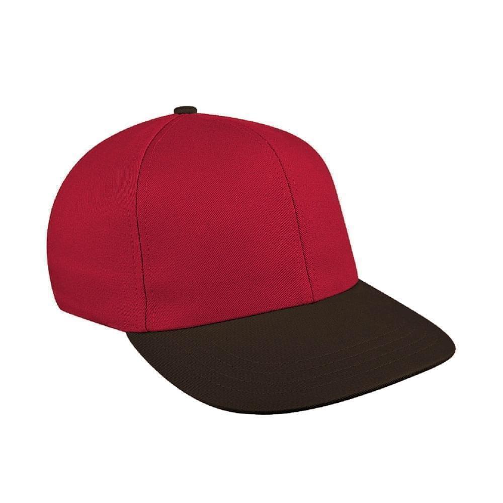 Red-Black Canvas Snapback Prostyle
