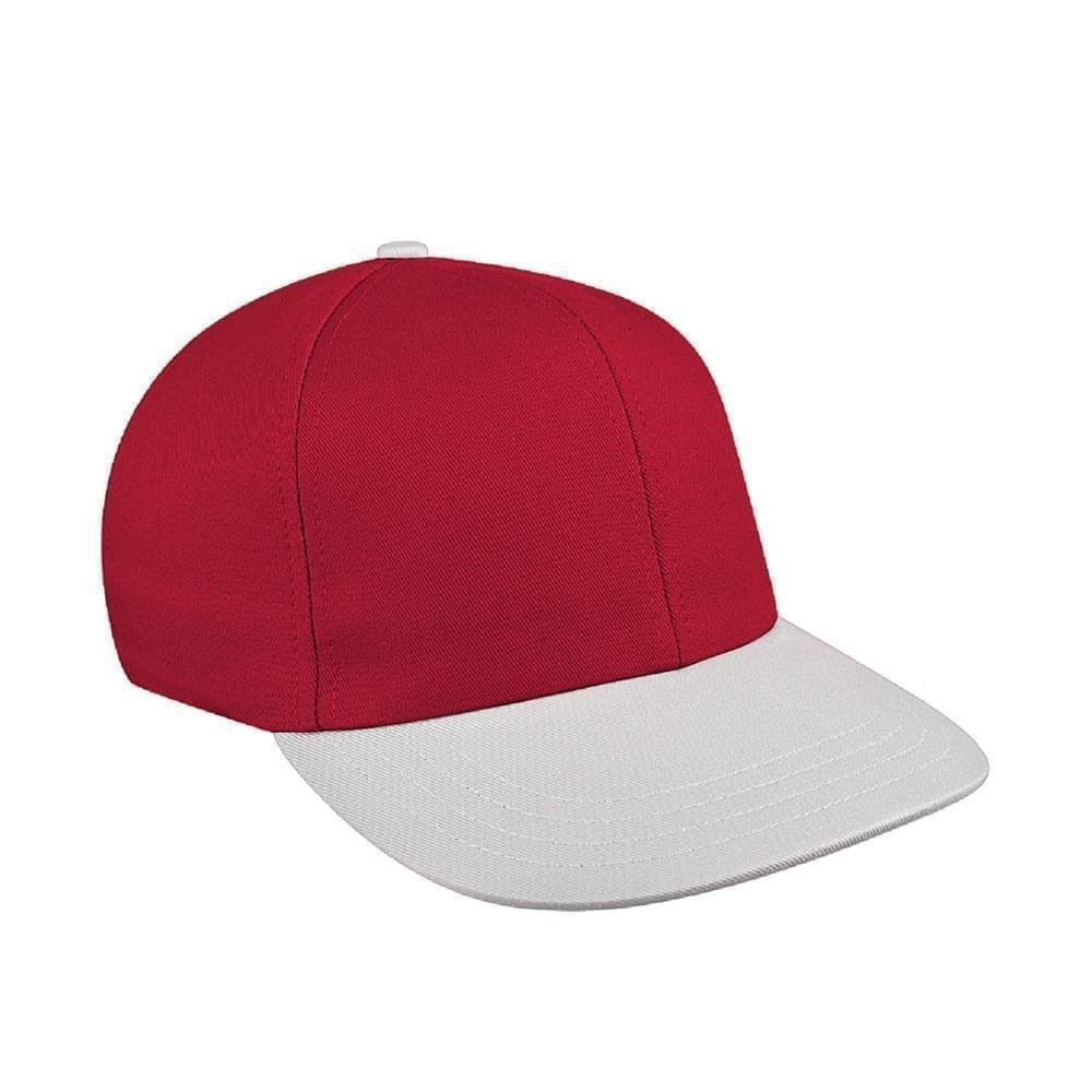 Red-White Canvas Velcro Prostyle
