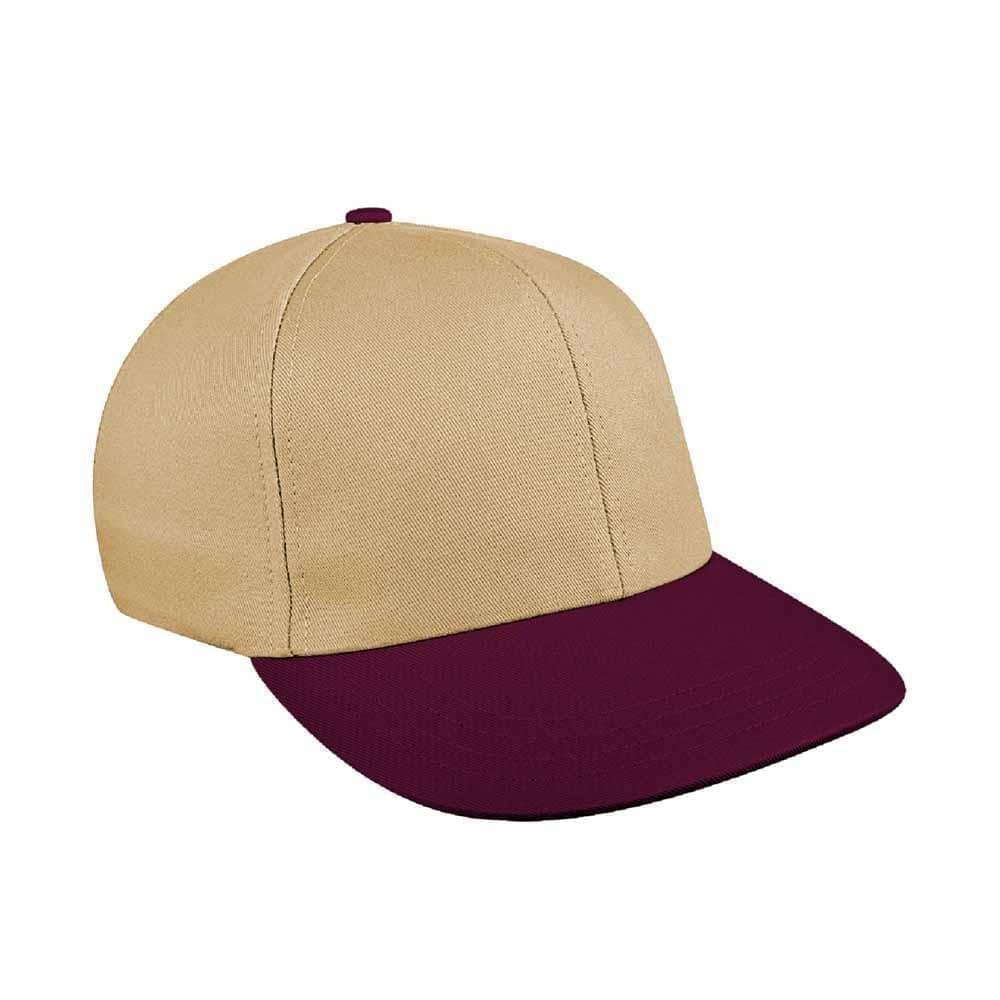 Khaki-Burgundy Canvas Leather Prostyle