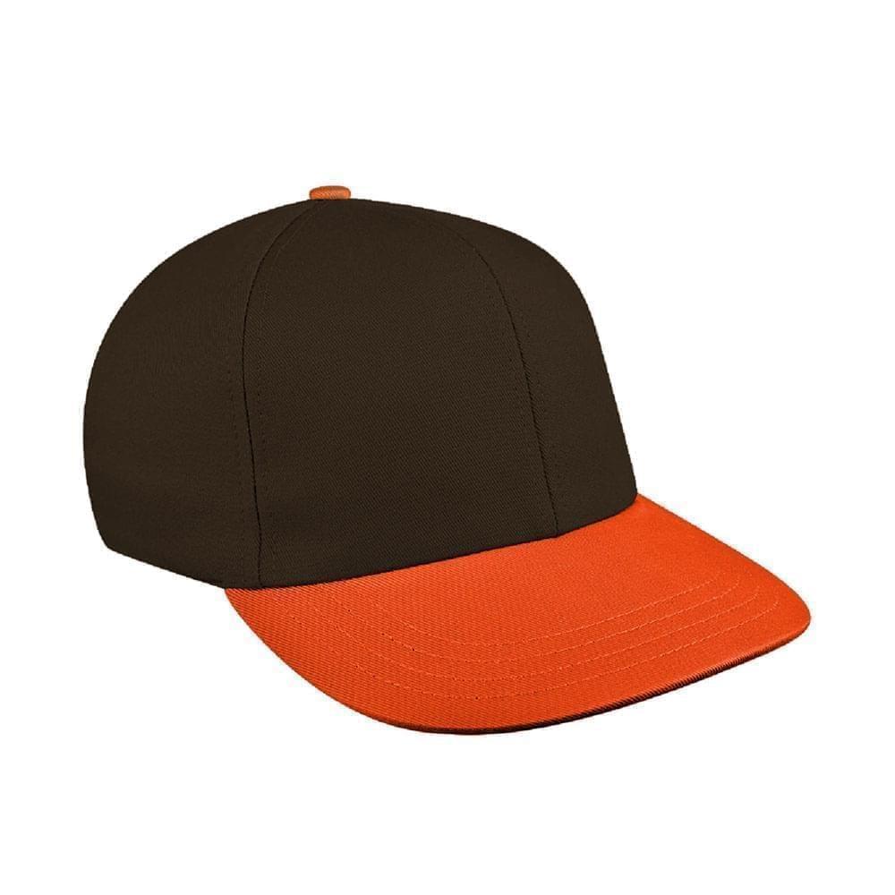 Black-Orange Canvas Snapback Prostyle