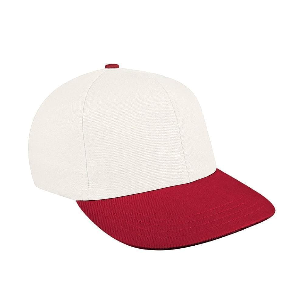 White-Red Canvas Self Strap Prostyle