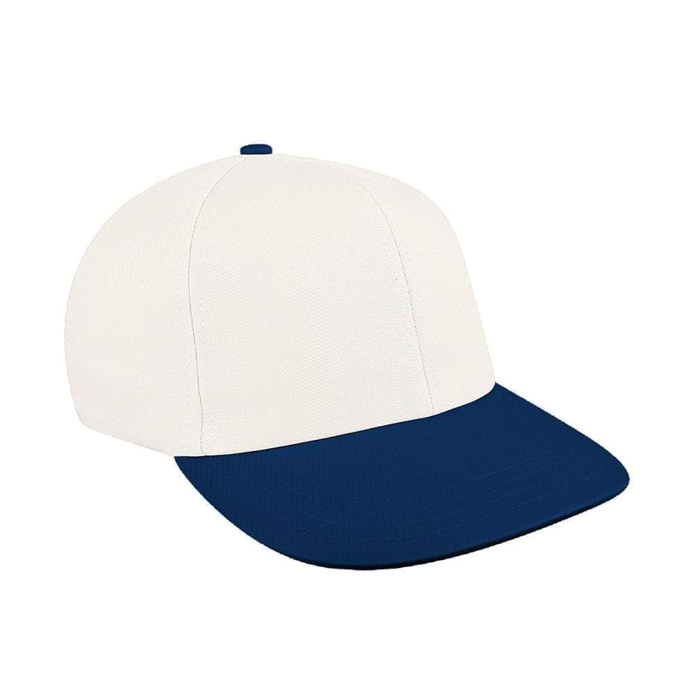 White-Navy Canvas Velcro Prostyle