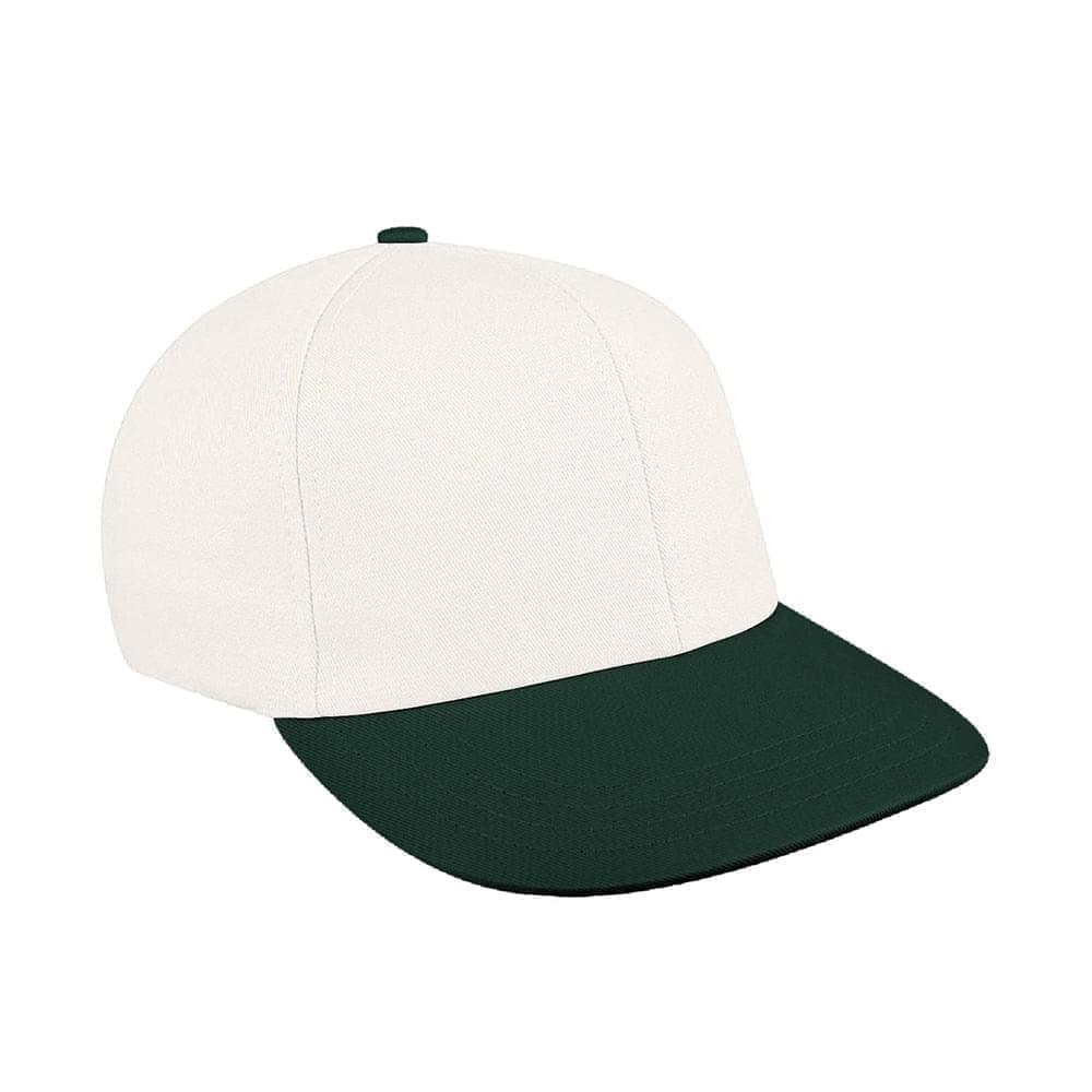 White-Hunter Green Canvas Leather Prostyle