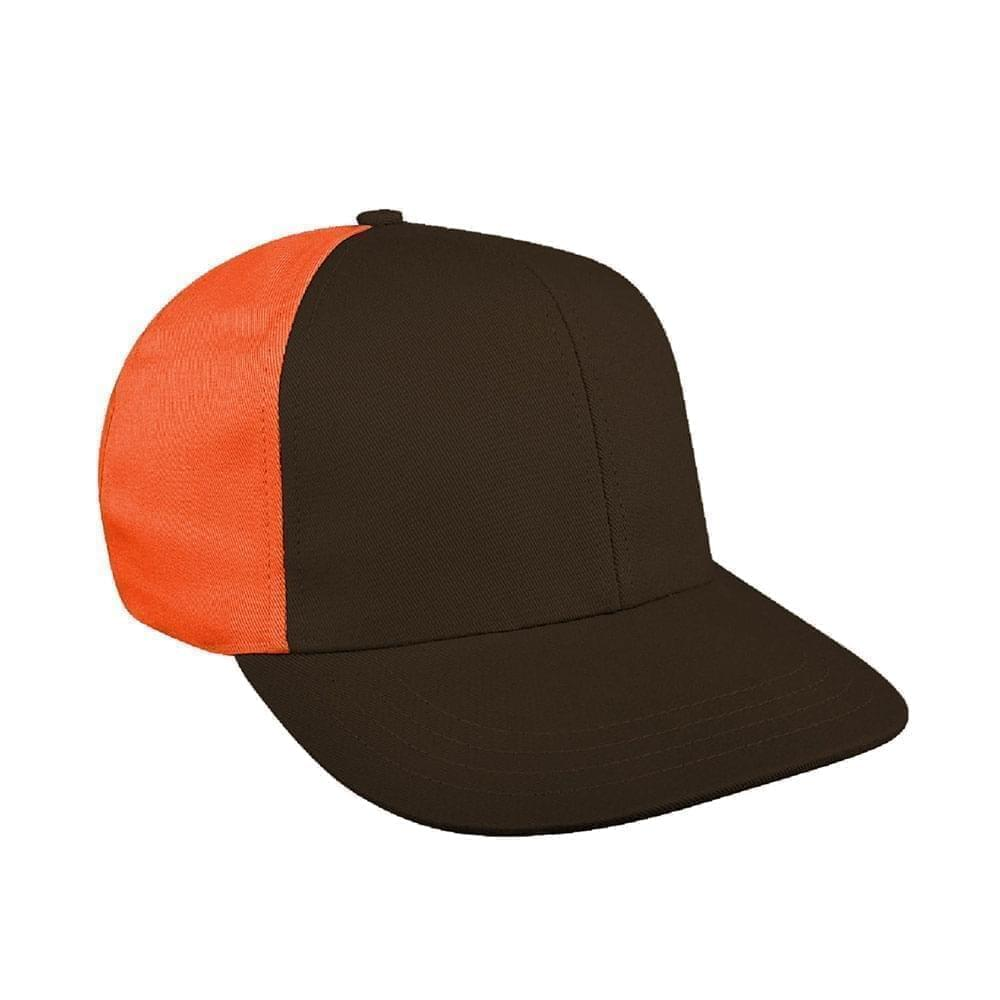 Black-Orange Canvas Snapback Prostyle