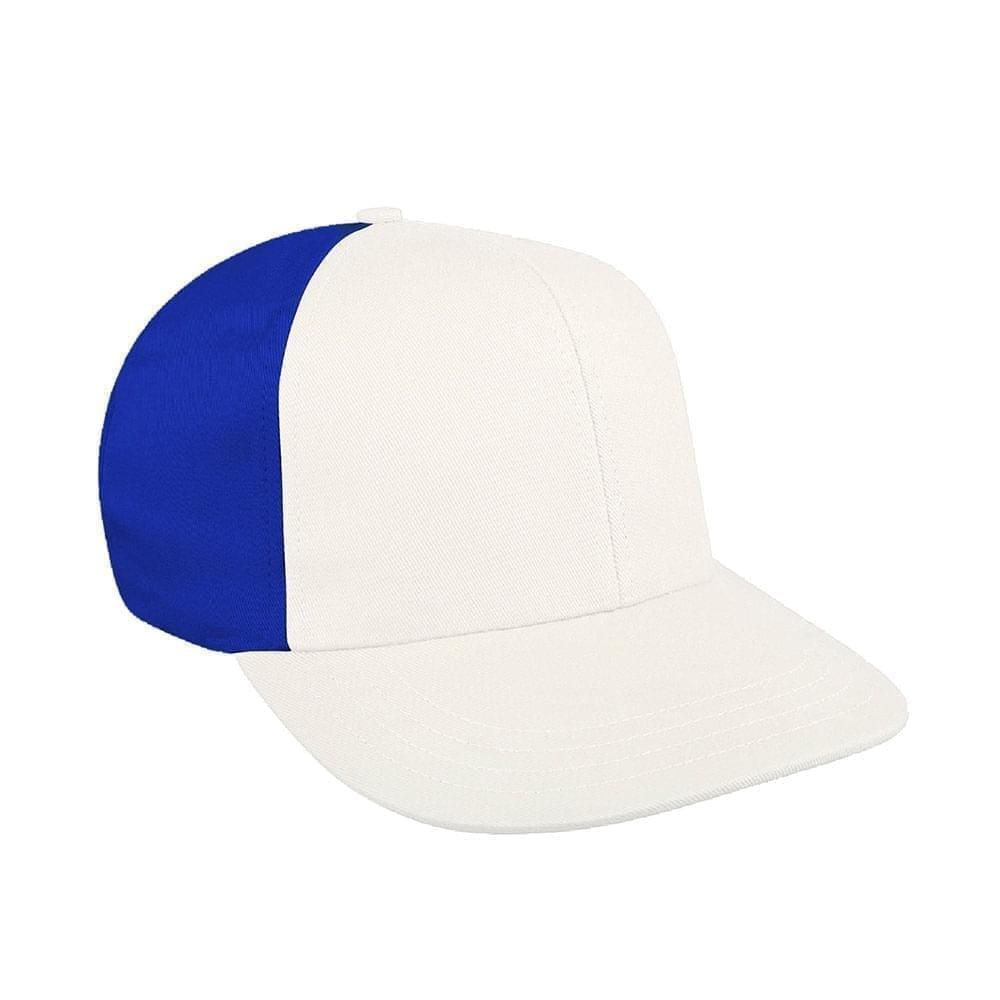 White-Royal Blue Canvas Snapback Prostyle