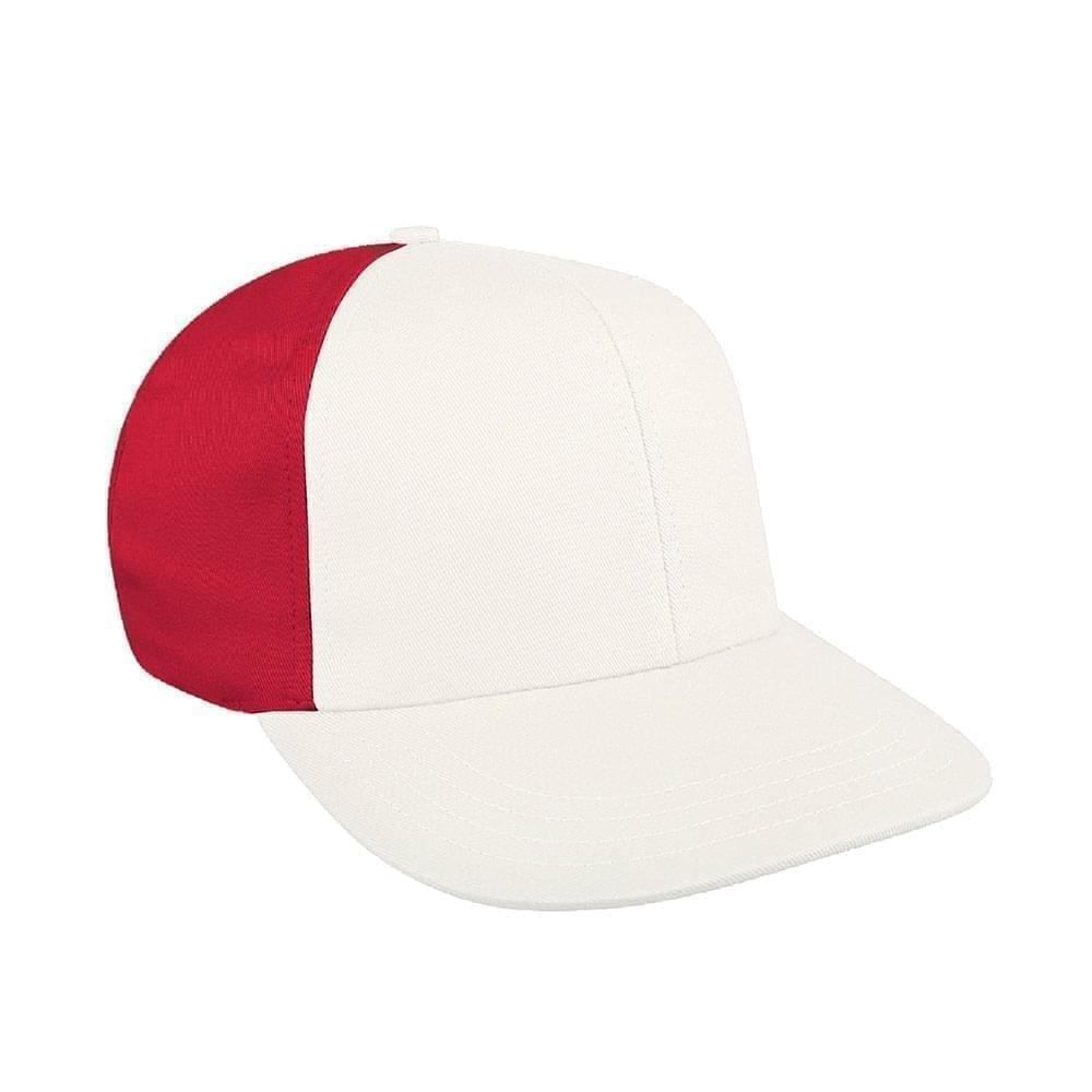 White-Red Canvas Leather Prostyle