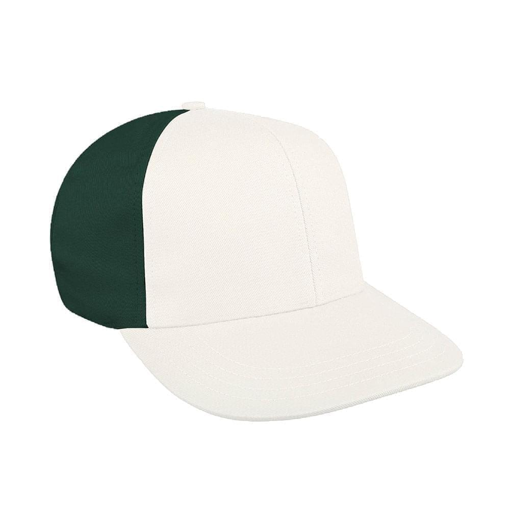 White-Hunter Green Canvas Snapback Prostyle