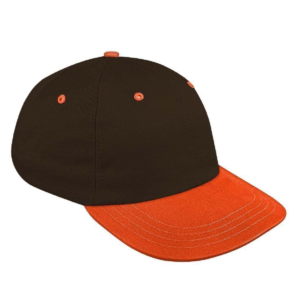 Black-Orange Canvas Slide Buckle Dad Cap