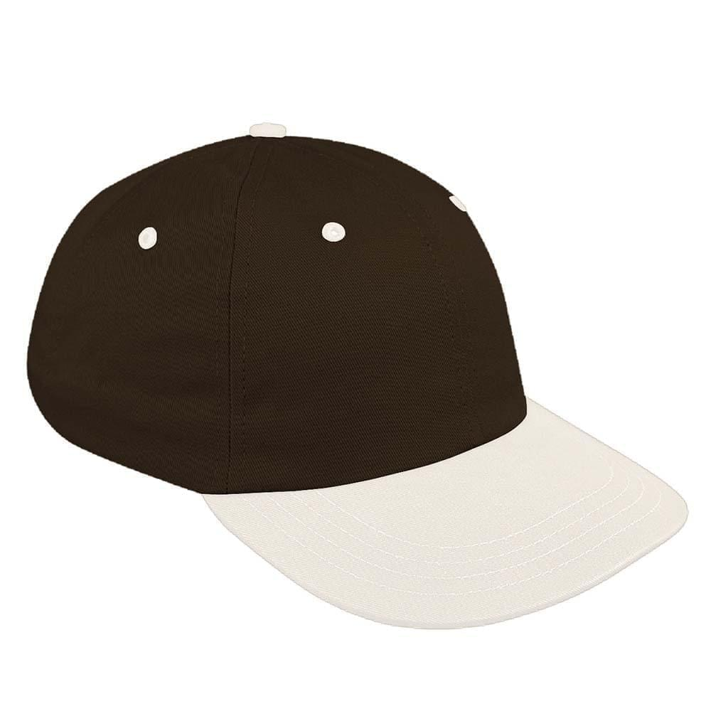 Black-White Canvas Self Strap Dad Cap