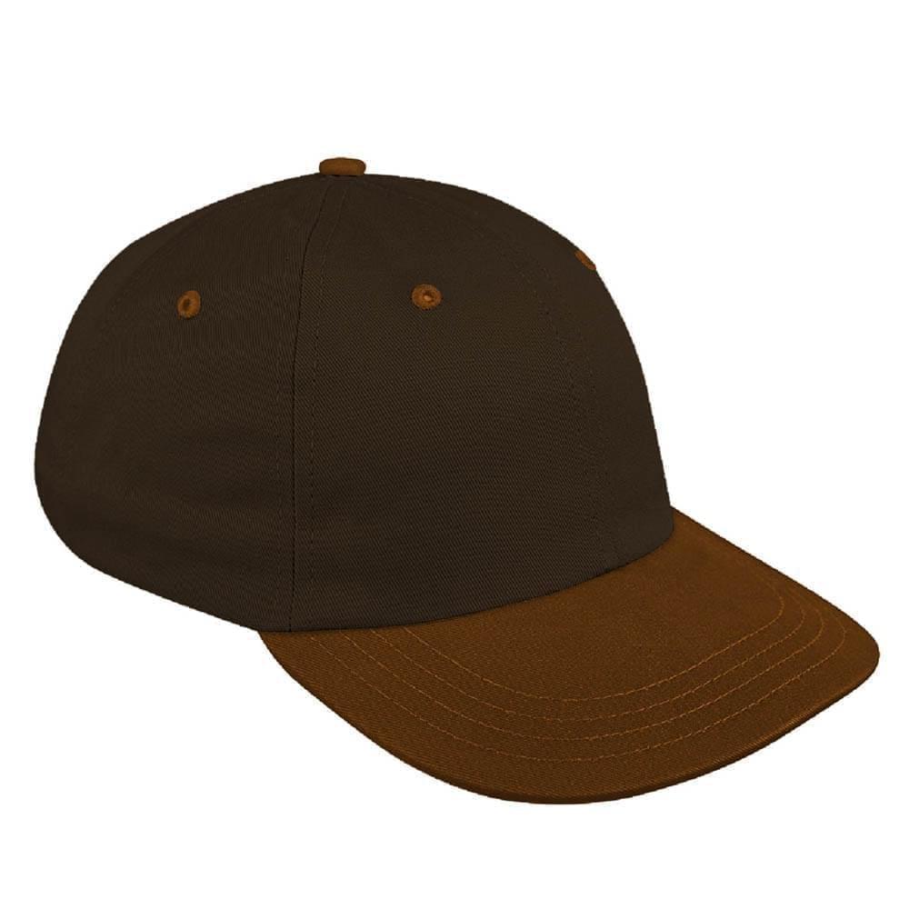 Black-Light Brown Canvas Snapback Dad Cap