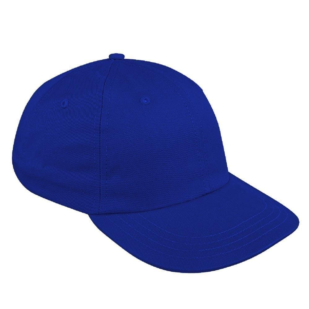 Royal Blue Canvas Leather Dad Cap