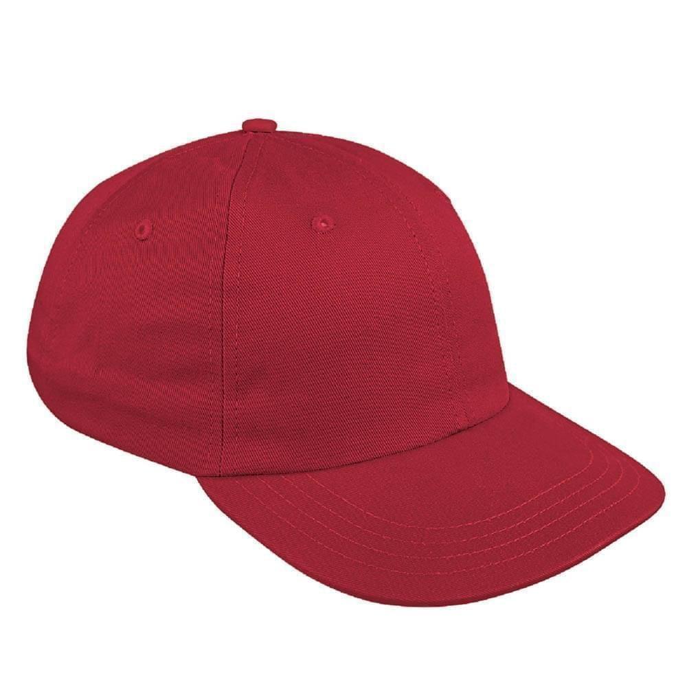 Red Canvas Snapback Dad Cap