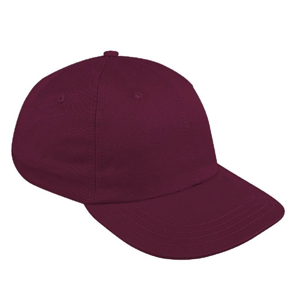 Burgundy Canvas Leather Dad Cap