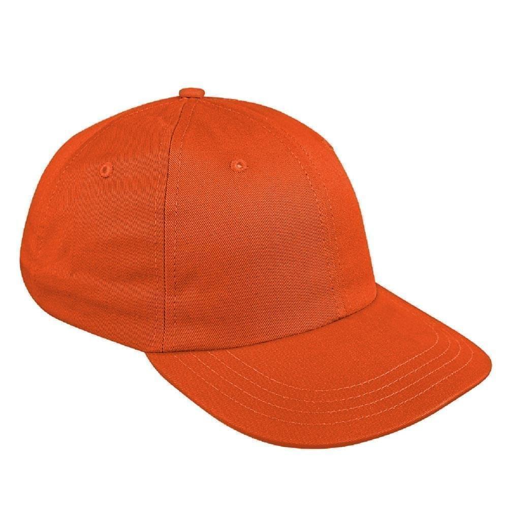 Orange Canvas Slide Buckle Dad Cap