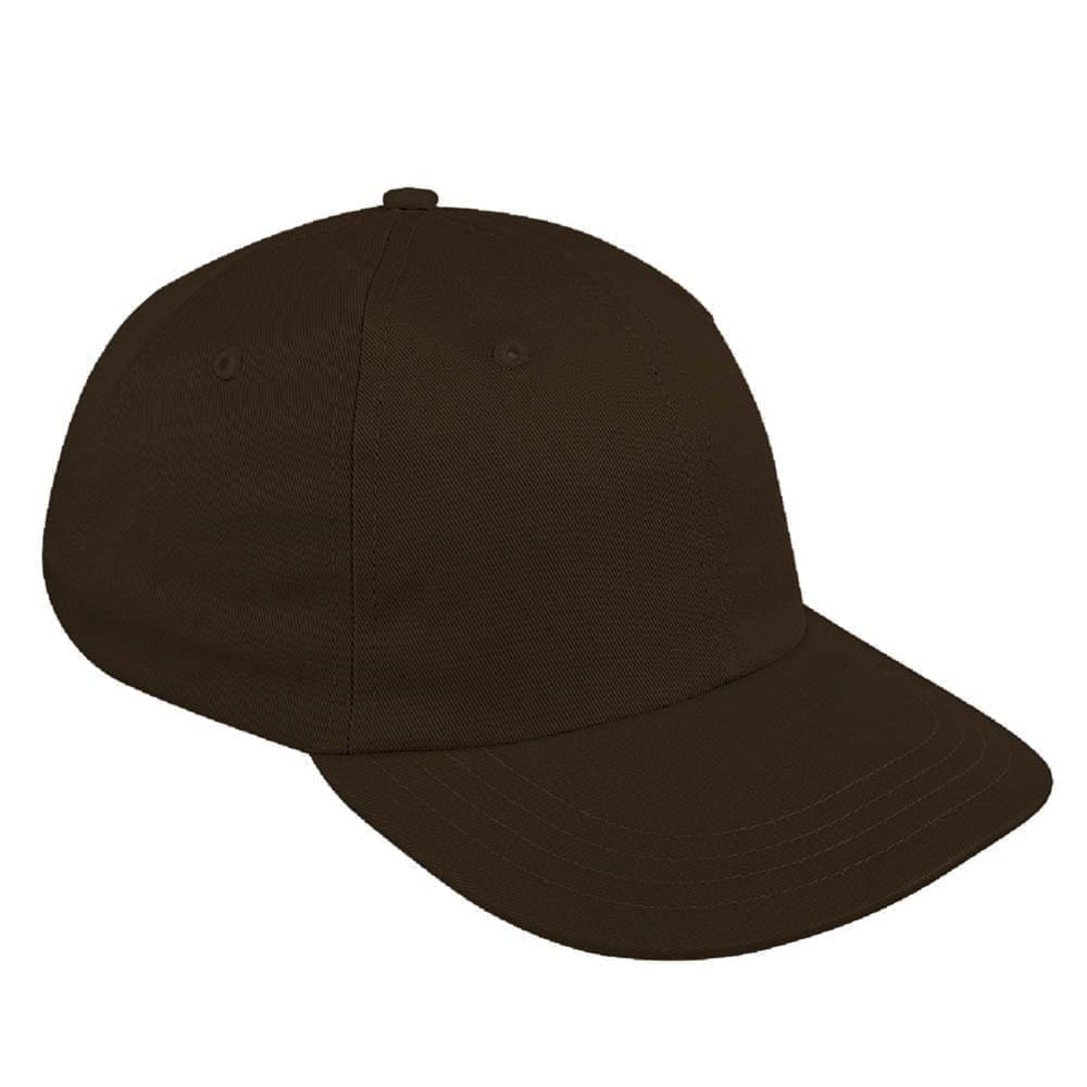 Black Canvas Leather Dad Cap