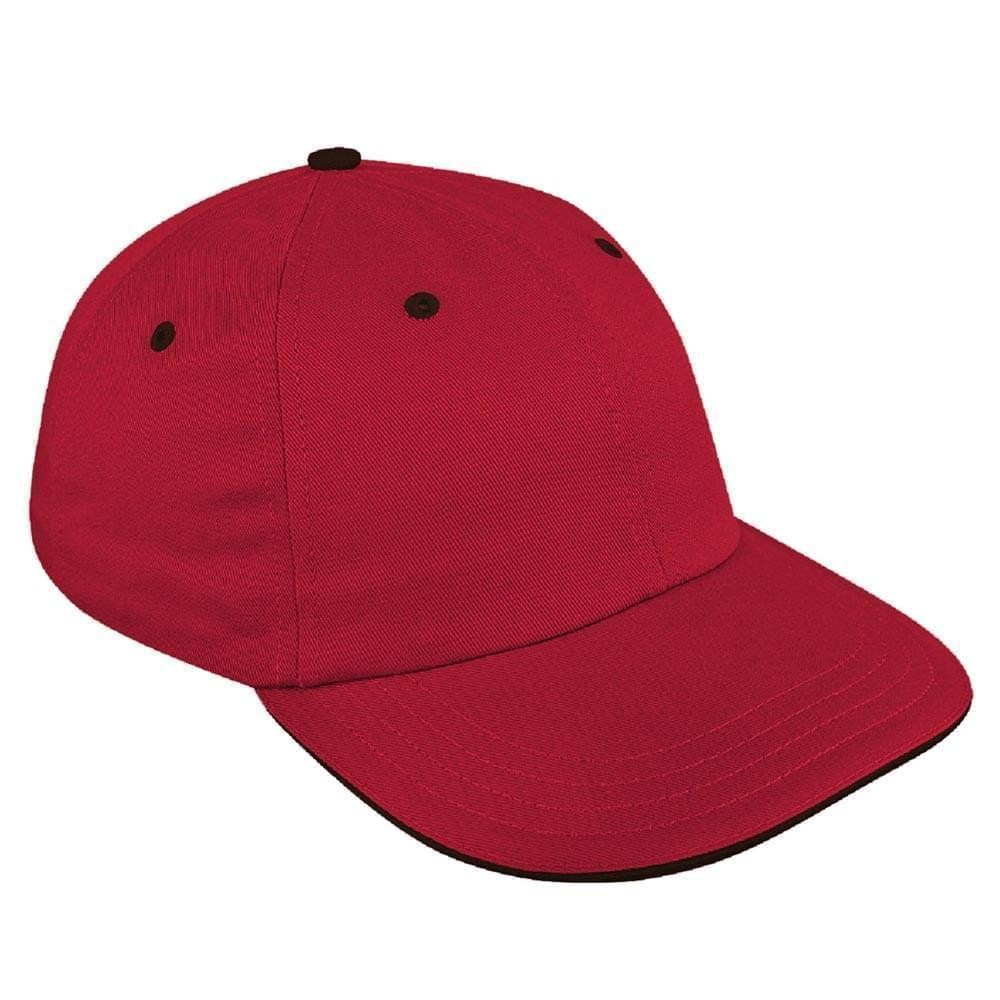 Red-Black Canvas Slide Buckle Dad Cap