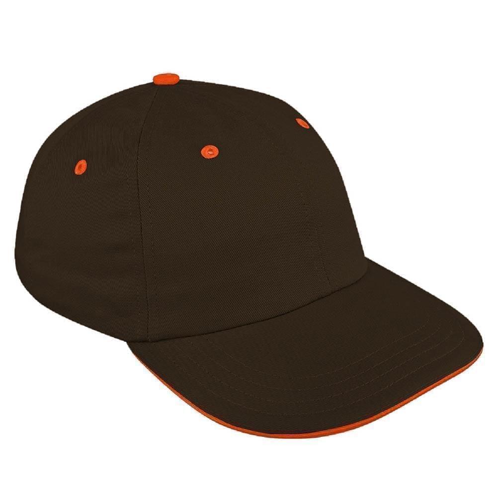 Black-Orange Canvas Self Strap Dad Cap