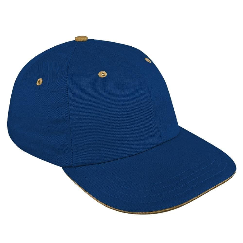 Navy-Khaki Canvas Snapback Dad Cap