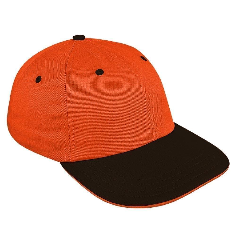 Orange-Black Canvas Slide Buckle Dad Cap