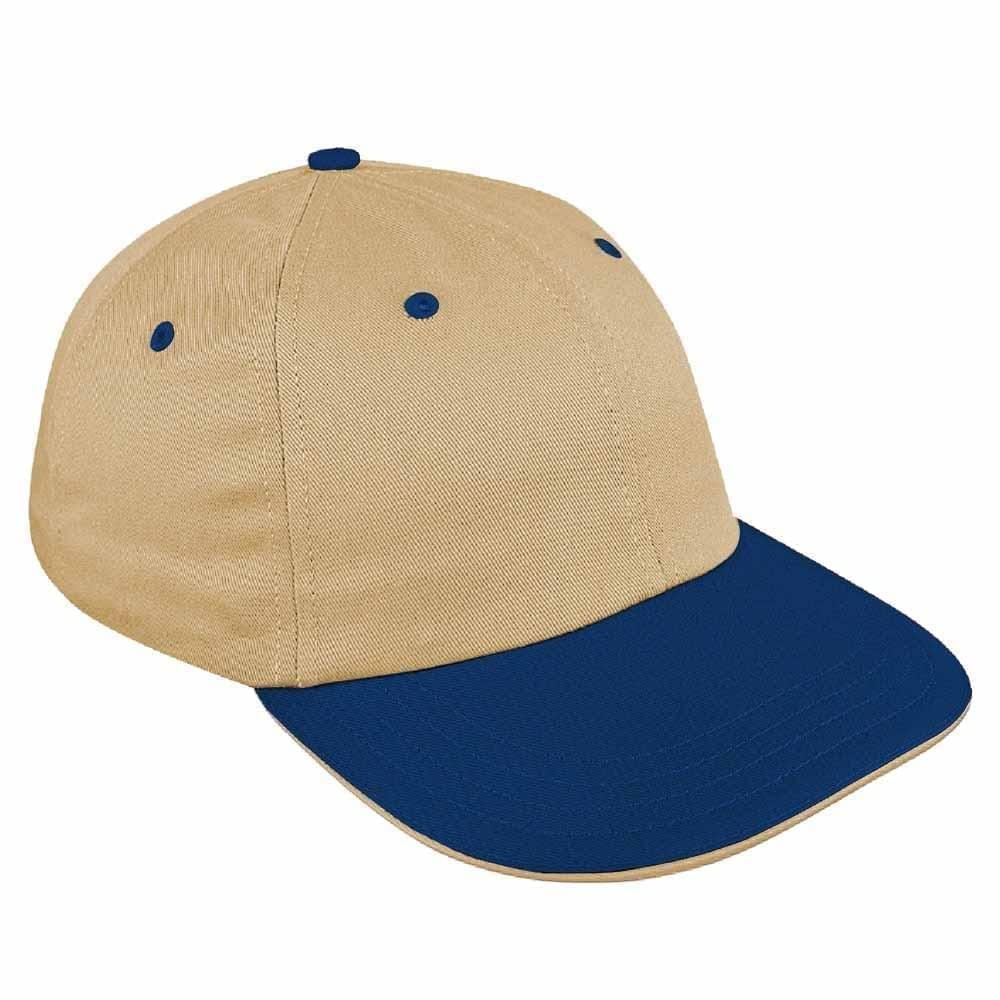 Khaki-Navy Canvas Self Strap Dad Cap
