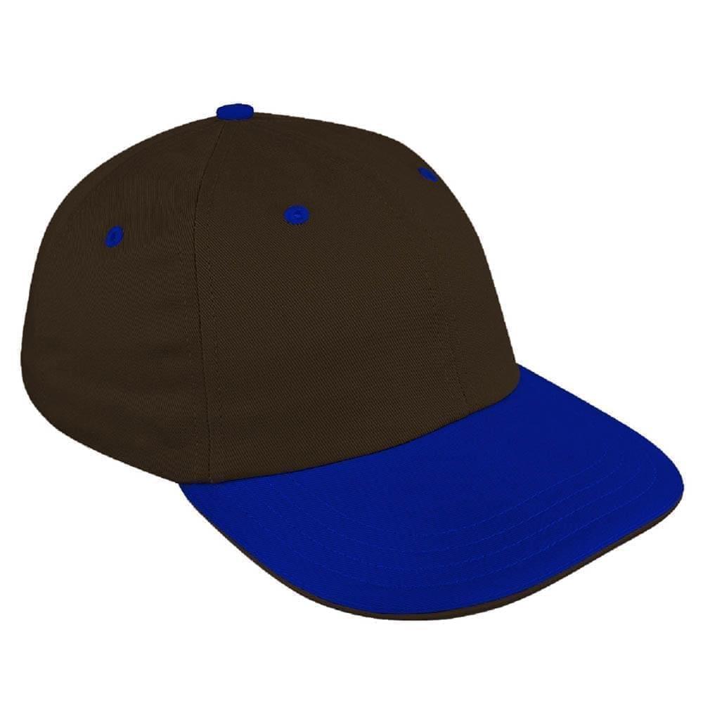 Black-Royal Blue Canvas Self Strap Dad Cap
