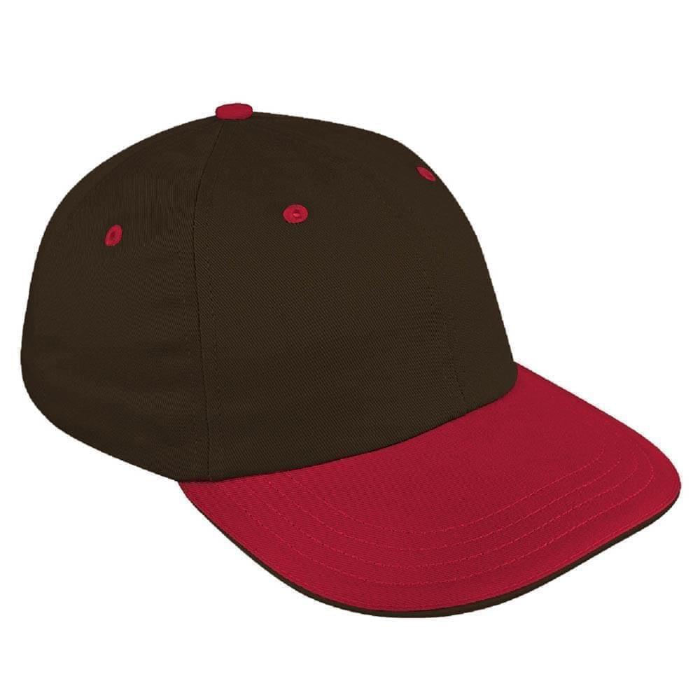 Black-Red Canvas Snapback Dad Cap