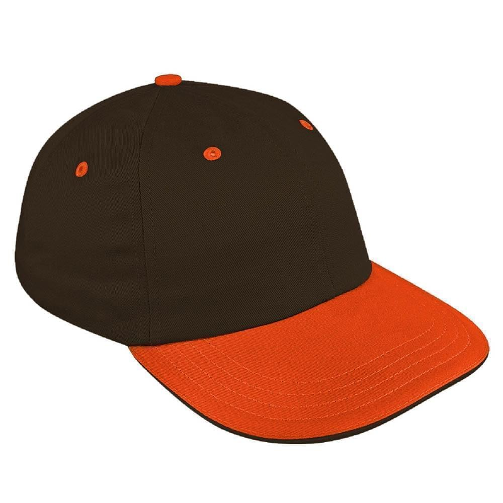 Black-Orange Canvas Self Strap Dad Cap