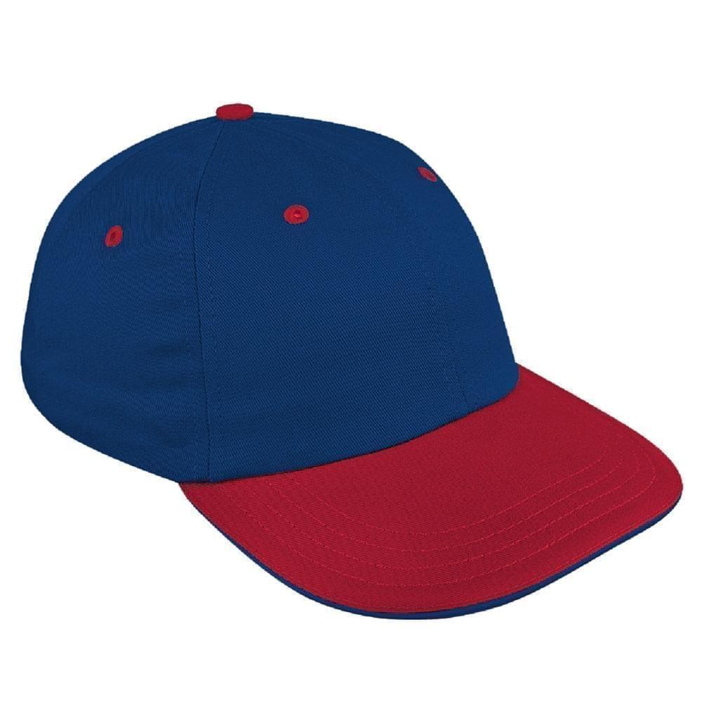 Navy-Red Canvas Snapback Dad Cap