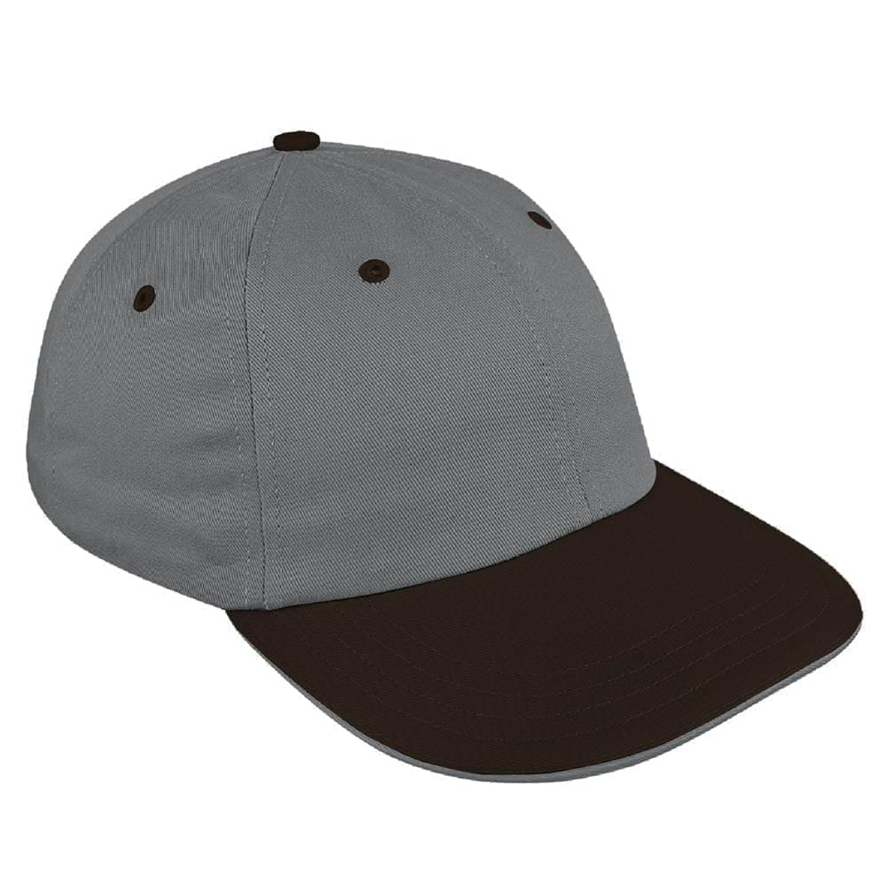 Two Tone Sandwich Brushed Self Strap Dad Cap