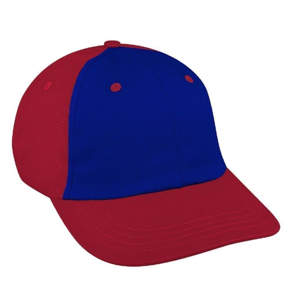 Royal Blue-Red Canvas Slide Buckle Dad Cap