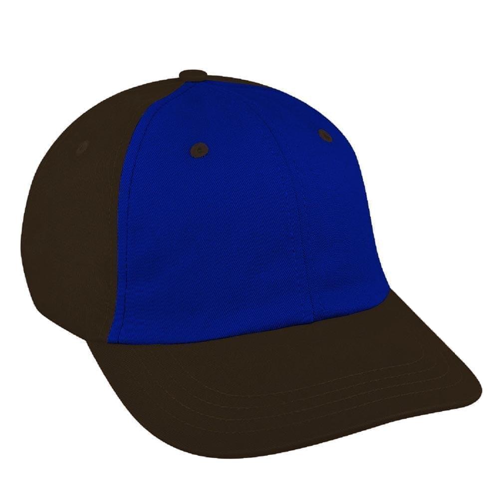Royal Blue-Black Canvas Self Strap Dad Cap