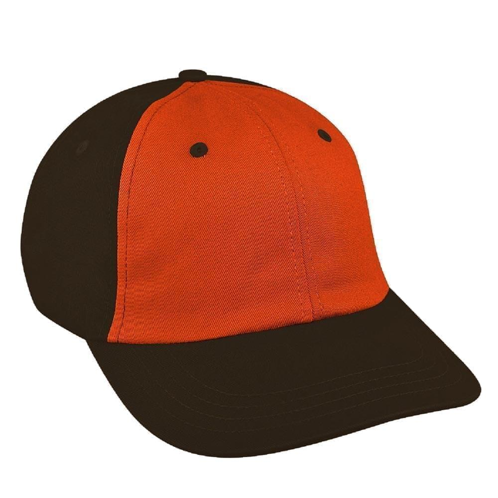 Orange-Black Canvas Snapback Dad Cap