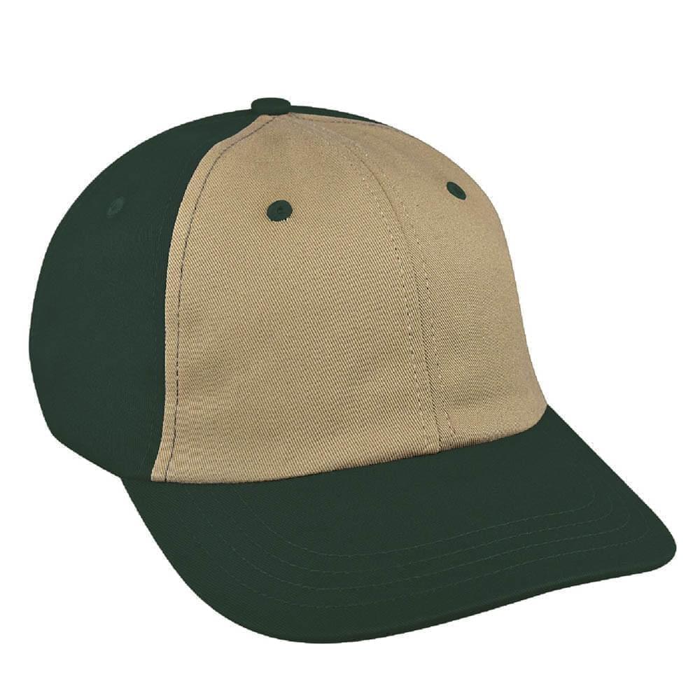 Khaki-Hunter Green Canvas Slide Buckle Dad Cap