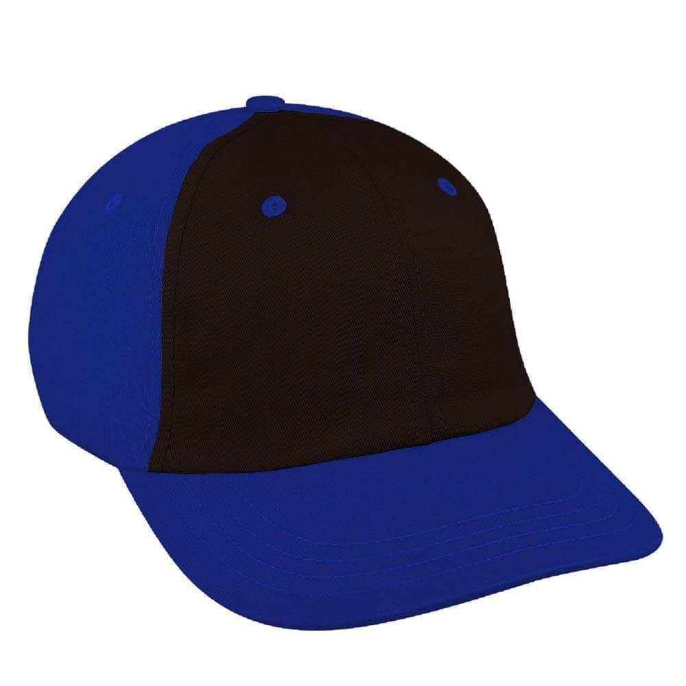 Black-Royal Blue Canvas Snapback Dad Cap