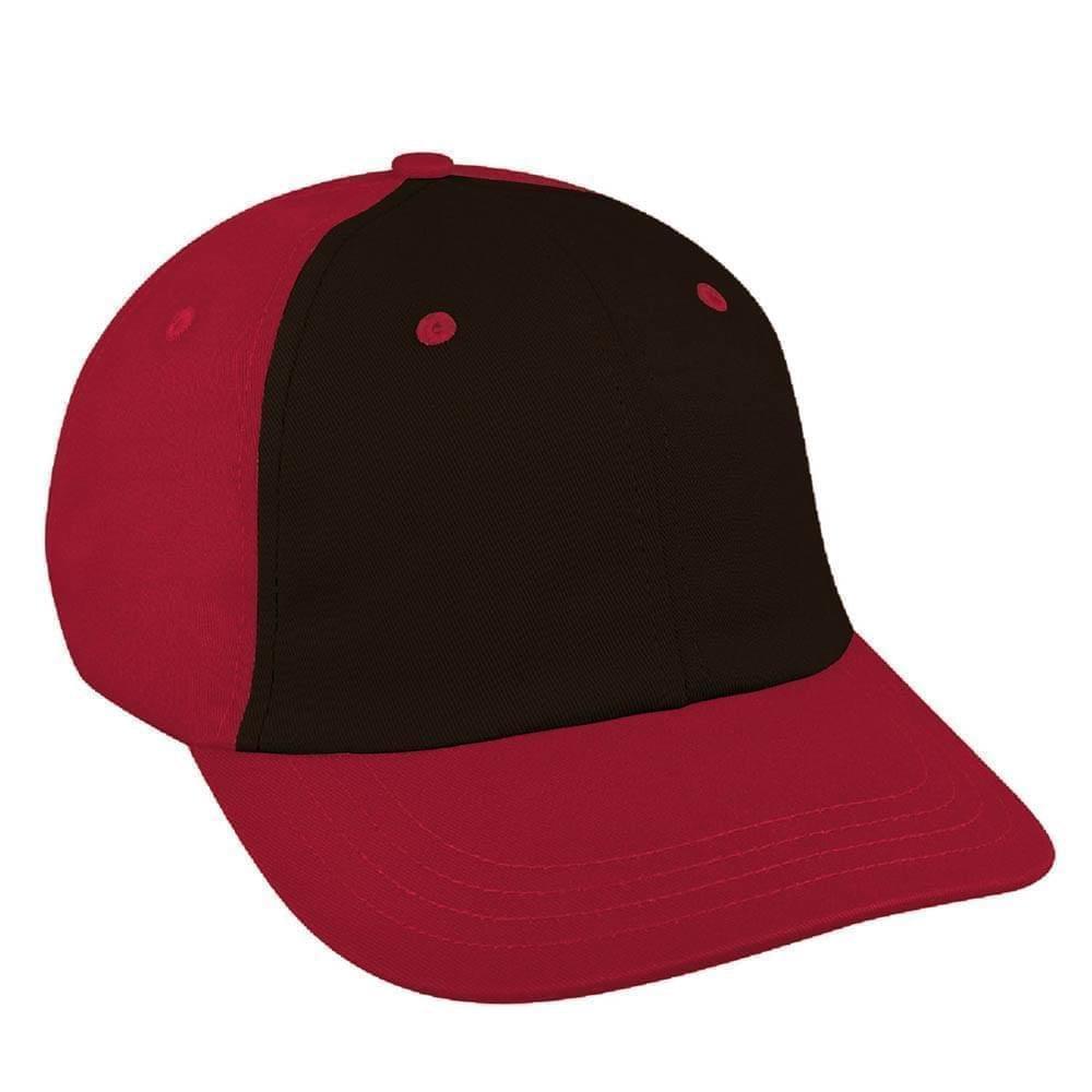 Black-Red Canvas Slide Buckle Dad Cap