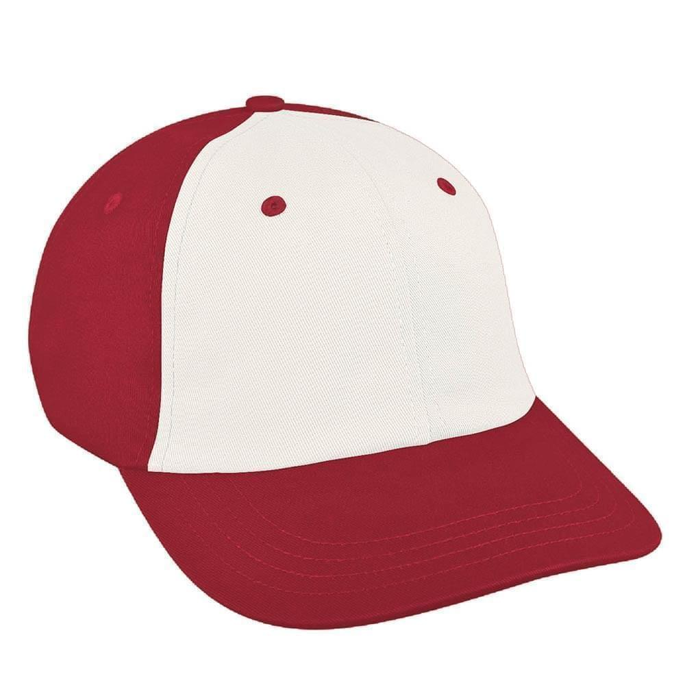 White-Red Canvas Slide Buckle Dad Cap