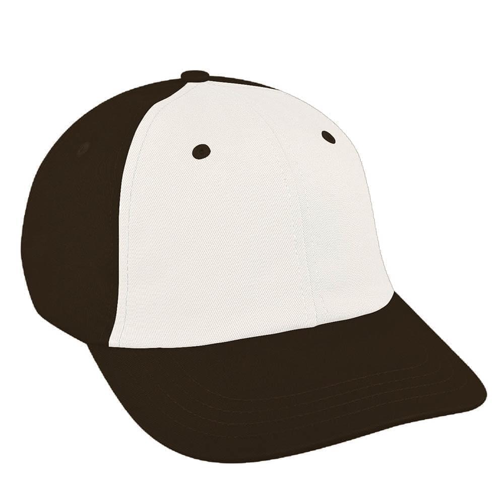 White-Black Canvas Slide Buckle Dad Cap
