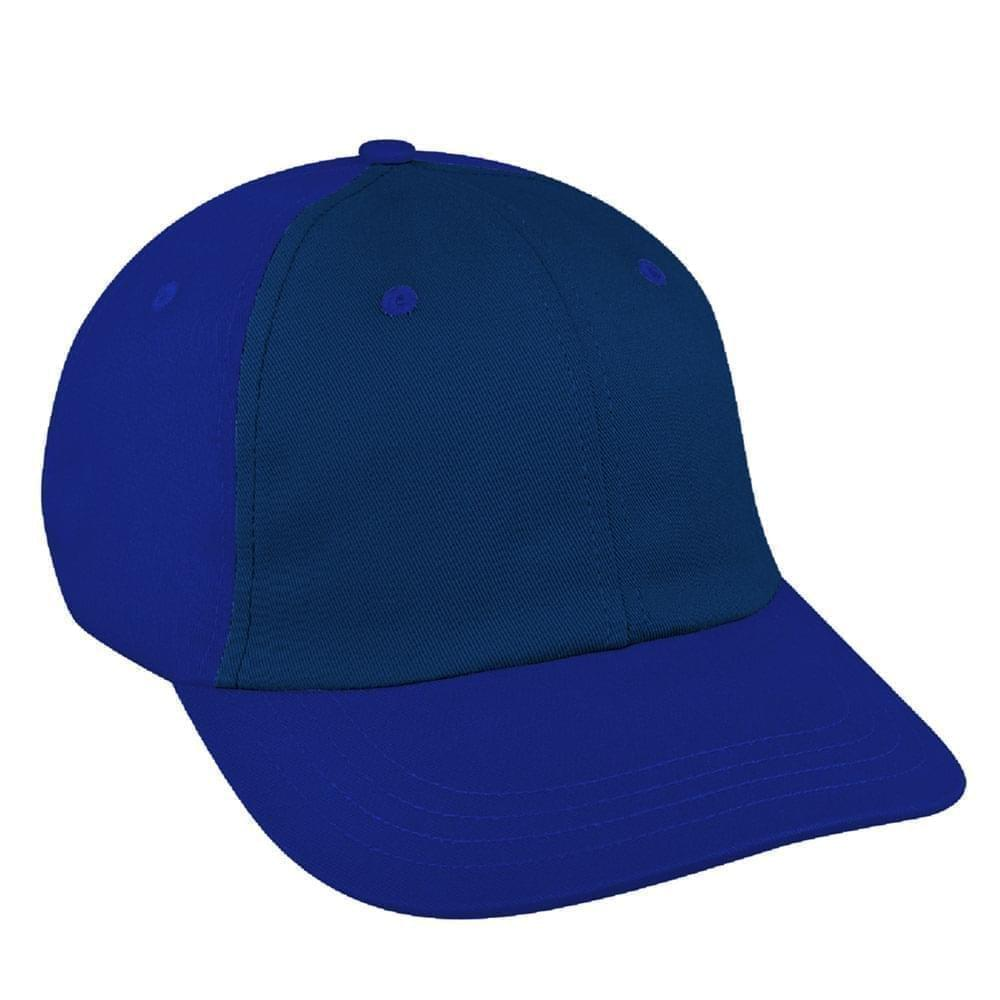 Navy-Royal Blue Canvas Self Strap Dad Cap