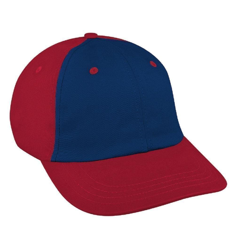 Navy-Red Canvas Self Strap Dad Cap