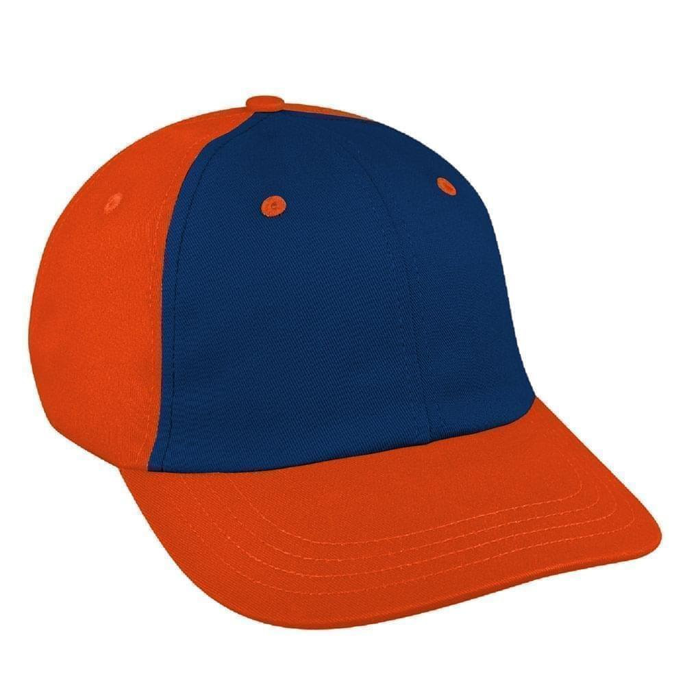 Navy-Orange Canvas Slide Buckle Dad Cap