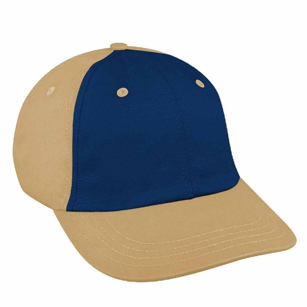 Navy-Khaki Canvas Snapback Dad Cap