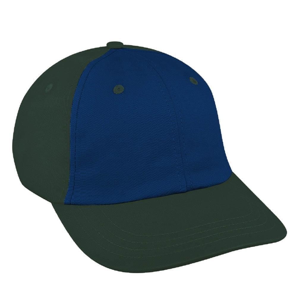 Navy-Hunter Green Canvas Slide Buckle Dad Cap