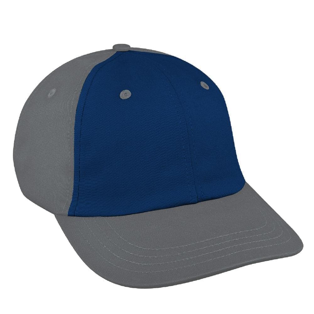 Navy-Light Gray Denim Velcro Dad Cap