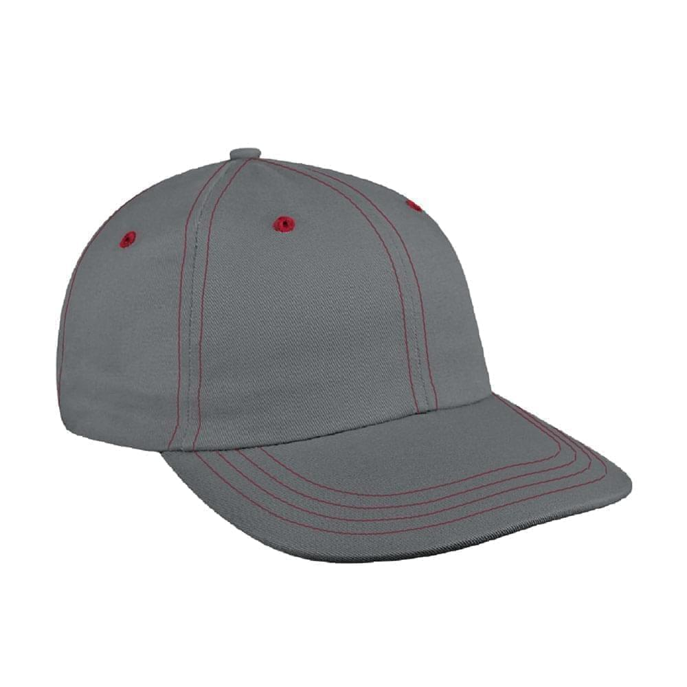 Contrast Stitching Brushed Velcro Dad Cap
