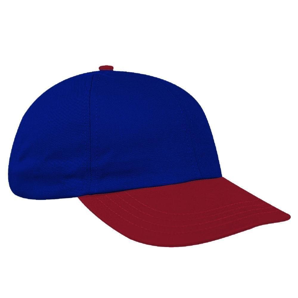 Royal Blue-Red Denim Velcro Dad Cap