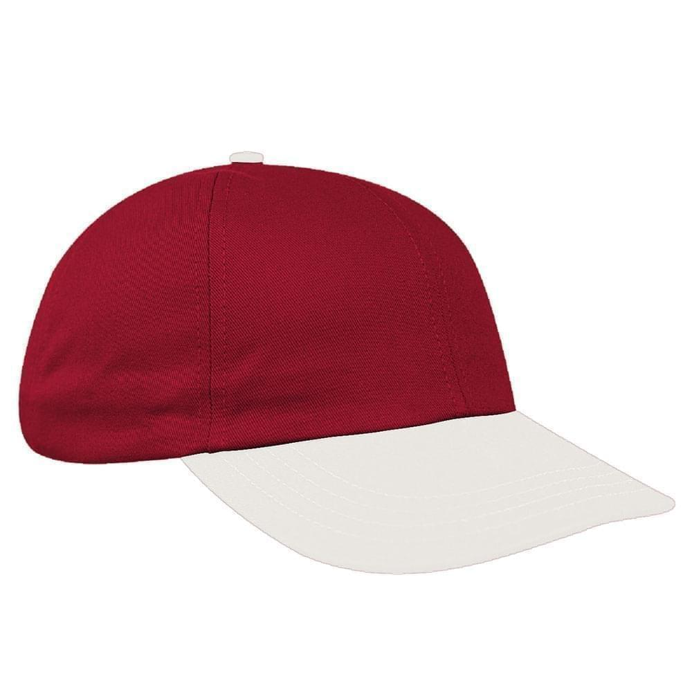 Two Tone Brushed Velcro Dad Cap