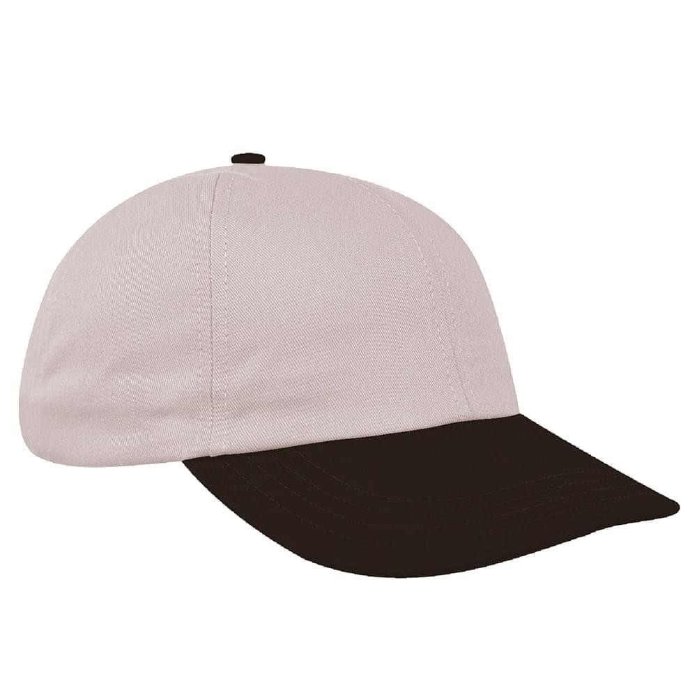 Putty-Black Denim Velcro Dad Cap
