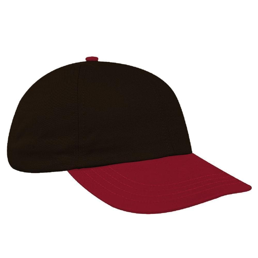 Black-Red Canvas Snapback Dad Cap