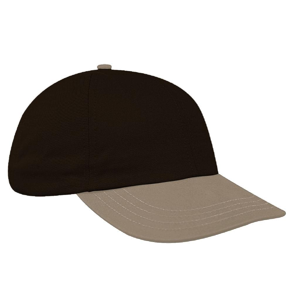 Black-Khaki Denim Velcro Dad Cap